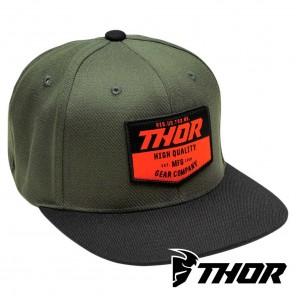 Cappellino Thor CHEVRON Snapback - Nero Verde Militare