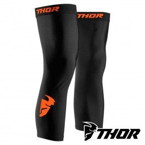 Thor COMP KNEE Sleeve - Nero Rosso Arancione