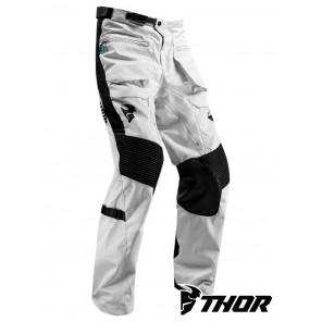 Pantaloni Enduro Thor TERRAIN (Over The Boot) - Grigio Chiaro Nero