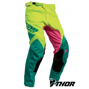 Pantaloni Cross Thor PULSE FACTOR - Acid Teal