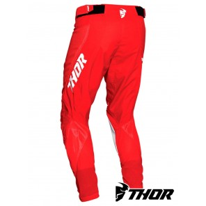 Pantaloni Thor PULSE AIR RAD - Bianco Rosso