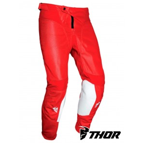 Pantaloni Cross Thor PULSE AIR RAD - Bianco Rosso