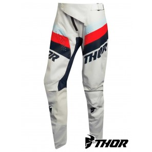 Pantaloni Cross Donna Thor Women's PULSE RACER - Bianco Vintage Midnight