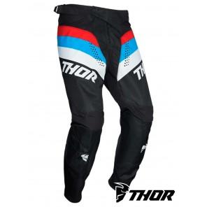 Pantaloni Cross Bambino Thor YOUTH PULSE RACER - Nero Rosso Blu