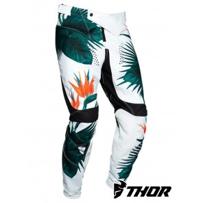 Pantaloni Cross Bambino Thor YOUTH PULSE TROPIX - Nero Bianco