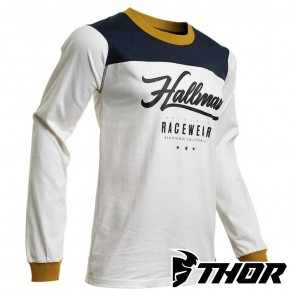 Maglia Cross Thor HALLMAN GP - Bianco Vintage