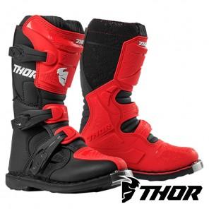 Stivali Cross Bambino Thor Youth BLITZ XP - Rosso Nero