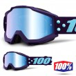 Maschera Cross 100% THE ACCURI Maneuver - Lente Blu Specchio