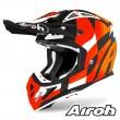 Casco Motocross Airoh AVIATOR ACE Trick - Arancione Opaco