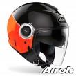 Casco Moto Jet Airoh HELIOS Fluo - Arancione