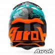 Casco Motocross Airoh STRYCKER Crack - Lucido