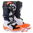 Stivali Cross Bambino Alpinestars TECH 7S - Nero Bianco Arancione Fluo