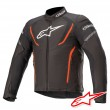 Giacca Alpinestars T-JAWS V3 WATERPROOF - Nero Rosso Fluo