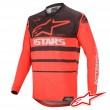 Maglia Cross Alpinestars RACER SUPERMATIC - Rosso Luminoso Nero