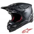 Casco Motocross Alpinestars SUPERTECH S-M8 Solid - Nero Opaco