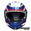 Casco Moto Nolan N100-5 PLUS N-COM Overland 35 - Bianco Metal Blu