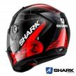 Casco Moto Integrale Shark RIDILL Mecca - Nero Rosso Argento