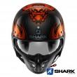Casco Moto Jet Shark S-DRAK CARBON 2 Dagon - Nero Arancione
