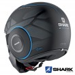 Casco Jet Shark STREET-DRAK Hurok Mat - Nero Blu Nero