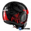 Casco Moto Jet Shark STREET-DRAK Crower - Nero Antracite Rosso