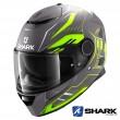 Casco Moto Integrale Shark SPARTAN Antheon Mat - Antracite Giallo Nero