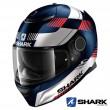 Casco Moto Integrale Shark SPARTAN Strad Mat - Blu Bianco Rosso