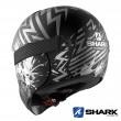 Casco Moto Integrale Shark VANCORE 2 Overnight Mat - Nero Antracite Argento