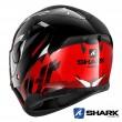 Casco Moto Integrale Shark D-SKWAL 2 Kanhji - Nero Rosso Bianco