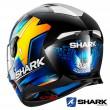 Casco Integrale Shark SKWAL 2 Replica Oliveira - Nero Blu Giallo