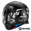 Casco Integrale Shark SKWAL 2 Nuk'Hem - Nero Antracite Bianco