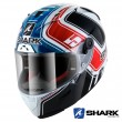 Casco Integrale Shark RACE-R PRO Replica Zarco GP De France - Bianco Blu Rosso