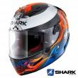 Casco Integrale Shark RACE-R PRO CARBON Replica Lorenzo 2019 - Nero Blu Rosso