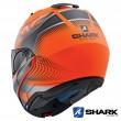 Casco Apribile Shark EVO-ONE 2 Keenser Mat - Arancione Nero Antracite