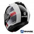 Casco Moto Apribile Shark EVO-ES Endless - Bianco Nero Rosso