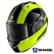 Casco Moto Apribile Shark EVO-ES Endless - Giallo Nero Argento