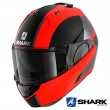 Casco Moto Apribile Shark EVO-ES Endless Mat - Arancione Nero