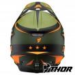 Casco Motocross Thor SECTOR WARSHIP - Verde Arancione