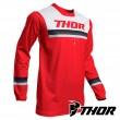 Maglia Cross Thor PULSE PINNER - Rosso Bianco