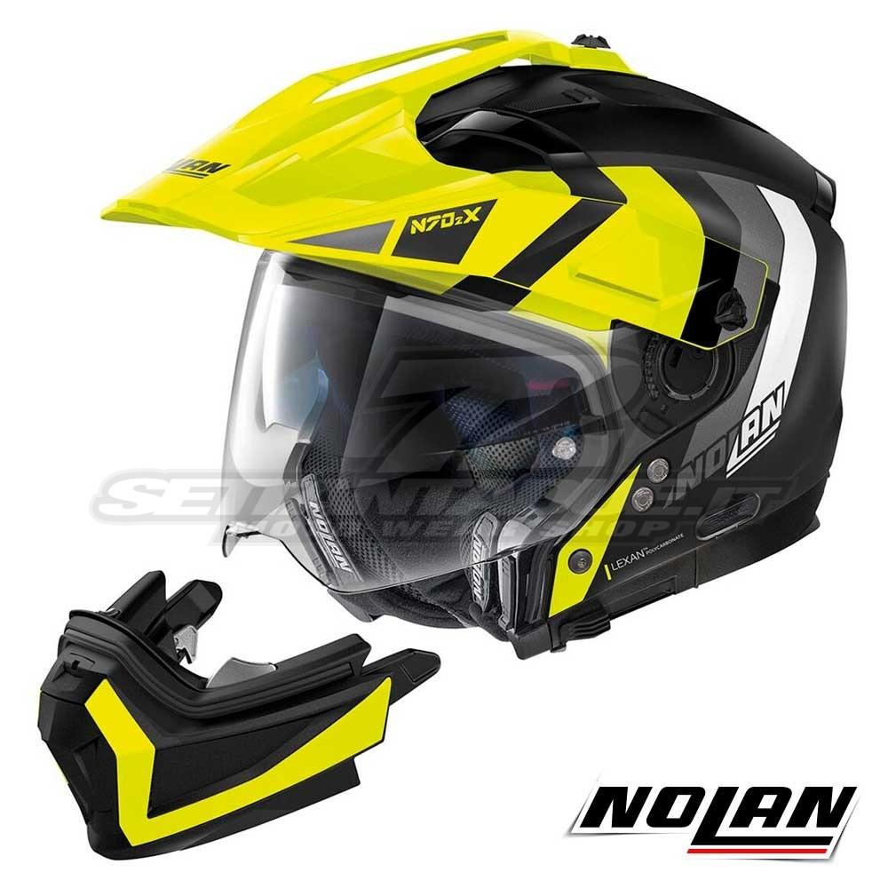 NOLAN CASCO N70-2 X DECURIO N-COM FLAT BLACK S