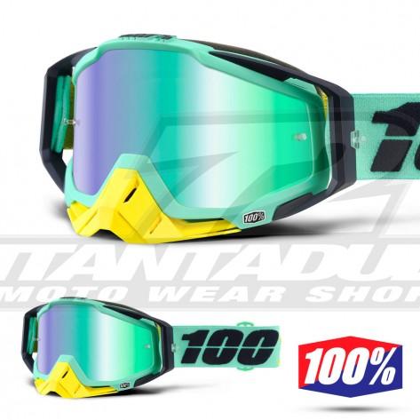 100% Maschera THE RACECRAFT Derestricted - Lente Rosso Specchio
