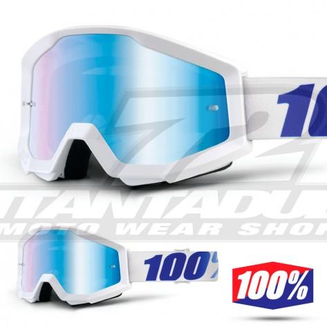 100% Maschera THE STRATA Orange - Lente Blu Specchio