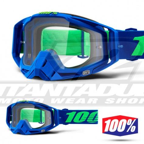 100% Maschera THE RACECRAFT Derestricted - Lente Trasparente