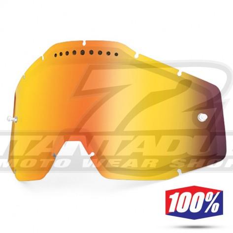 100% Lente Maschere - Doppia Ventilata Rosso Specchio