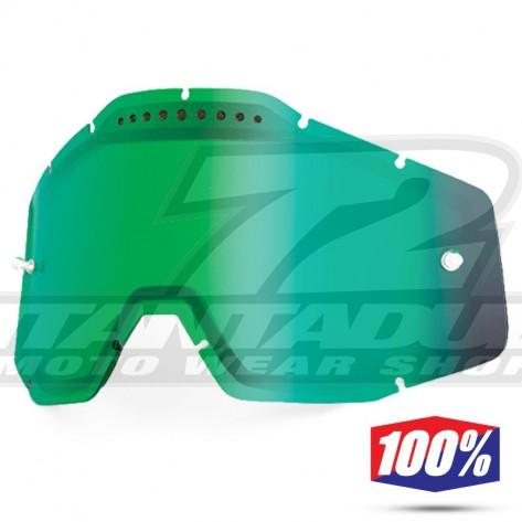100% Lente Maschere - Doppia Ventilata Verde Specchio