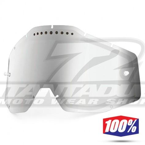 100% Lente Maschere - Doppia Ventilata Argento Specchio