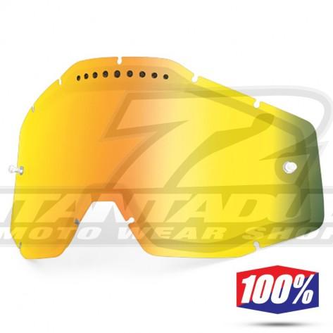 100% Lente Maschere - Doppia Ventilata Oro Specchio
