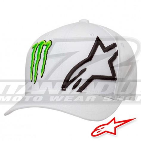 Cappellino Moto Alpinestars MONSTER CORPORATE - Bianco