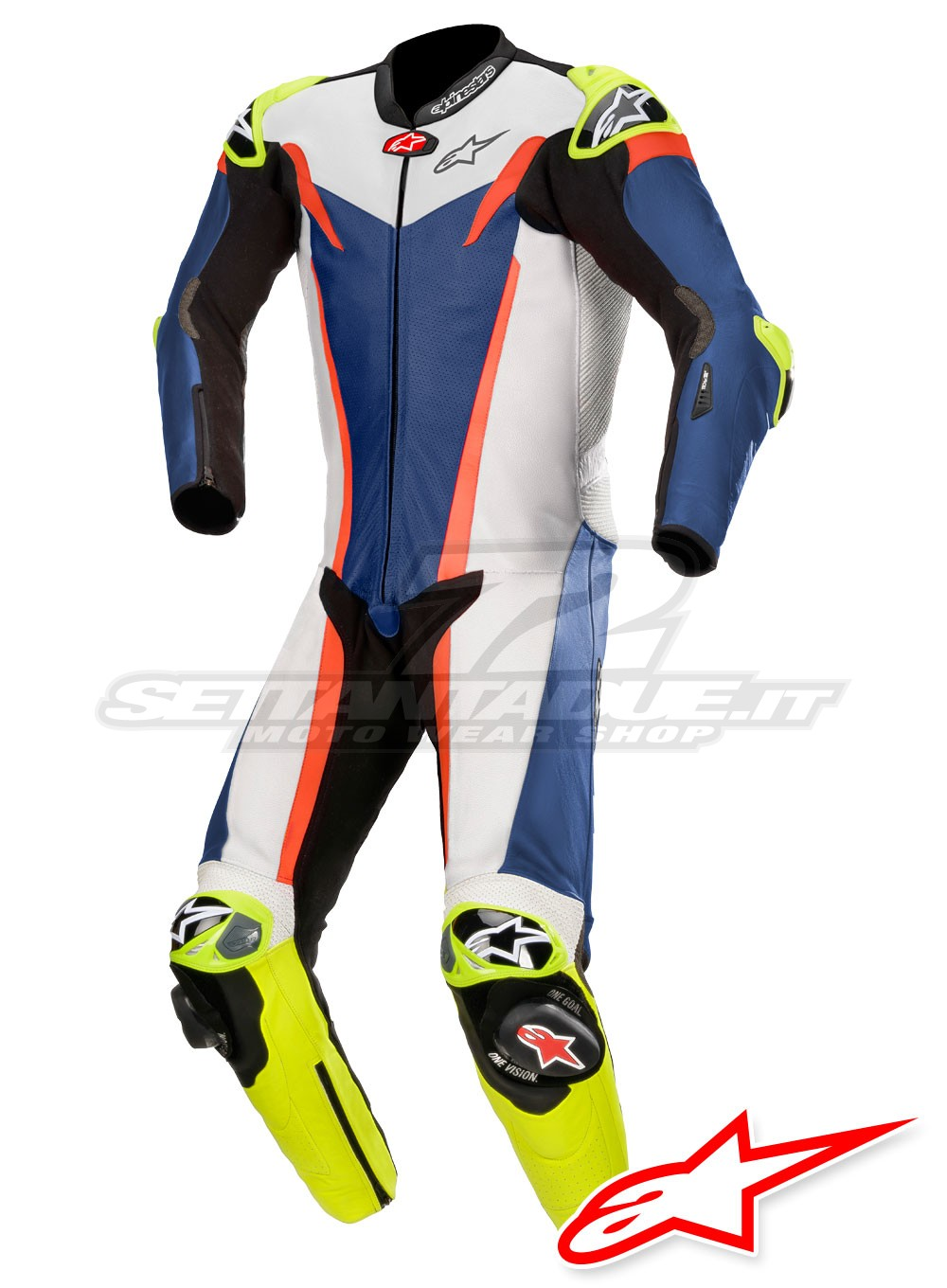 7efd13d4ee9 Alpinestars GP TECH V3 TECH-AIR™ Airbag Leather Suit - Blue White Red Fluo