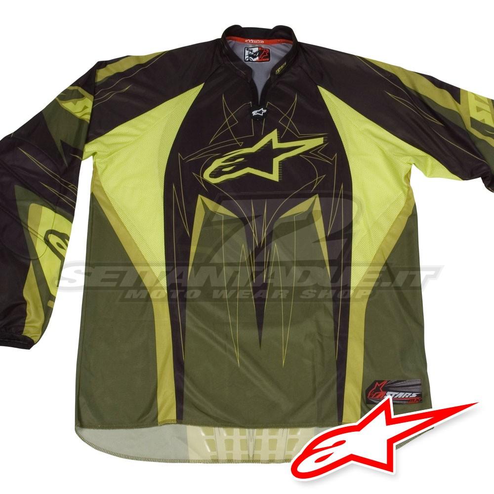 Alpinestars TECHSTAR MX Jersey - Green  9d214ab34