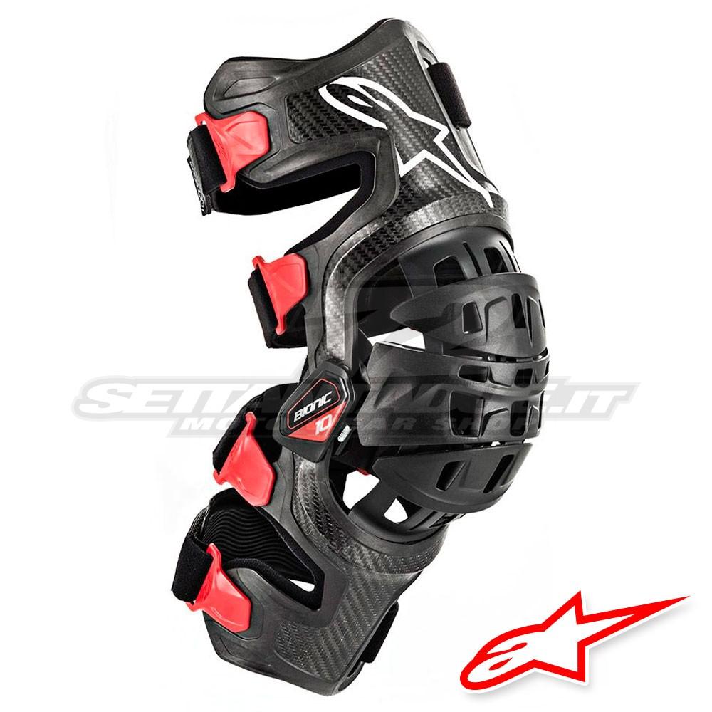 5ab24bca78 Alpinestars BIONIC-10 CARBON Knee Brace - Left - Black Red ...